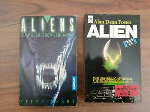 Alien ( Alan Dean Foster ) Buch Heyne Verlag und Aliens Buch Goldmann Verlag