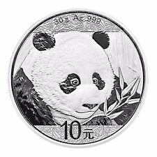 China Panda 2018 Silber 10 Yuan 30 g Silbermünze in Münzkapsel