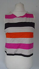 NEW H&M French Style Top Size M UK 14/16 Striped Cotton Mix