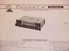 1974 AUDIOVOX AM RADIO SERVICE MANUAL MODEL C-406 CHEVROLET FORD CHRYSLER DODGE