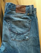 Lucky Brand 36w x 31L Distressed Dark Wash Denim Jeans Slim Bootleg