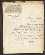 """CHINON (37) VINS Rosé Blanc Rouge """"B. DUTHEIL Viticulteur"""" en 1923"""