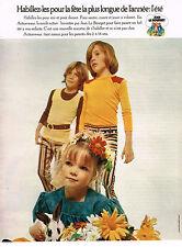 PUBLICITE ADVERTISING  1972   JEAN LE BOURGET  pret à porter enfants