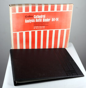 Collins Analysis Refill Binder Size A4x14 in Black