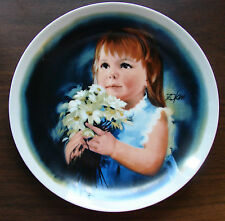 """1981 """"For You"""" 8.5"""" Collector's plate by Donald Zolan Made by Viletta Fc Usa"""