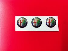 3 Adesivi Resinati Sticker 3D ALFA ROMEO 12 mm new