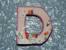 "MARY ENGELBREIT ALPHABET LETTER D DOG DAISY PINK PURPLE 2.5"" RESIN FIGURINE New"