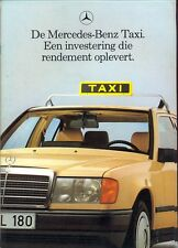 Mercedes-Benz W124 Saloon Estate W201 190 TAXI brochure 1989 Dutch market