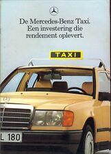 Mercedes-Benz W124 Saloon Estate W201 190 TAXI brochure 1989 Dutch market