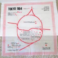 1964 Tokyo Summer Olympics Memorabilia - Large Plastic Furoshiki Map Guide