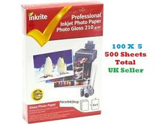 INKRITE INKJET PHOTO PAPER 500 SHEETS GLOSS GLOSSY 210 GSM 6X4 A6 Printer Qualty