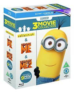 Minions Collection: Despicable Me 1 & 2 & Minions [Blu-ray Box Set, Region Free]
