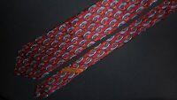 Ermenegildo Zegna Tie Maroon Gray Geometric Printed Italian Designer Necktie Men