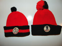 2) VINTAGE Atlanta Falcons NFL Football RARE Beanie Hat 1970s 80s 70s LOT SET