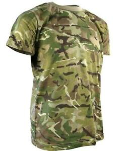 Kids, Childs BRITISH ARMY STYLE T-SHIRT  in MTP MULTICAM CAMO Ages 3-13