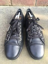 Dolce & Gabbana Trainers Mens Black  Leather Uk 8.5