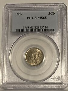 1889 3 Cent Nickel PCGS MS65*** Beautiful!! Luster!!
