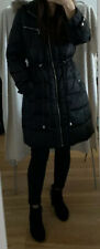 Michael Kors Black Down Winter Quilted Hooded Zip Jacket Parka Size S Uk 8-10