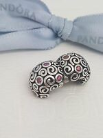 NEW Authentic Pandora Sterling Silver Red CZ Fire Clip 790962CZR