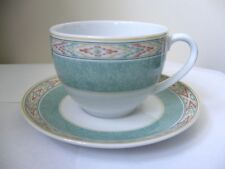 WEDGWOOD - AZTEC - 1 X TEA CUP AND SAUCER - GOOD USED CONDITION*z