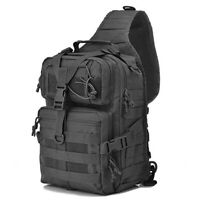 """15""""Men's Tactical Sling Bag Military Shoulder Sling bag One Strap Daypacks"""