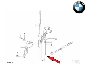 Original BMW 3er E36 Cabriolet + Compact Antenne Tige Courte. 65218375159