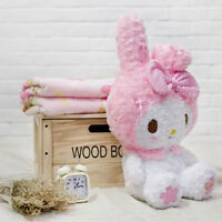 New Cute Kawaii Bowknot My Melody Kitty Doll Plush Toy Soft Blanket Girl Gift