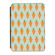 Carrot Pattern Cute Food Funny iPad Mini 1 2 3 PU Leather Flip Case Cover