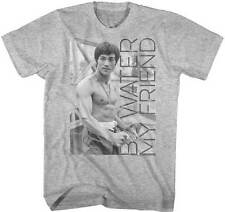 Bruce Lee No Shirt Be Water My Friend Adult T Shirt Martial Arts