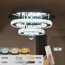 LUXUS LED Deckenleuchte Kristall Deckenlampe Sternhimmel Wohnzimmerlampe 36W