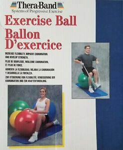 TheraBand Exercise and Stability Ball for Improved Posture, Balance, Core Yoga,