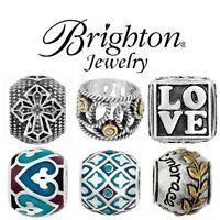 Brighton Jewelry Charm Bracelet Beads New & Retired Fine Silver Plate Swarovski