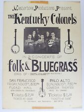 The Kentucky Colonels with Clarence White, Original Concert Poster,  1964