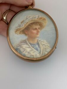 Fine portrait miniature of a lady signed E.A.G.C, Victorian, framed