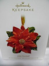 HALLMARK 2011 Feliz Navidad Poinsettia Ornament New in box