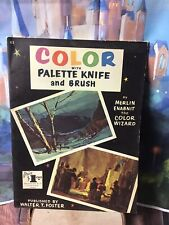 Color with Palette Knife and Brush paperback art book Walter T. Foster