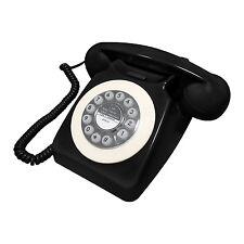 1970s Nuovo di Zecca telefono retrò vintage classico Scrivania Telefono Cornetta Rotary Dial