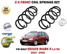 Para VW Volkswagen Golf V Familiar 1.4 TSI 2007-2009 Nuevo 2X Frente Muelle Set