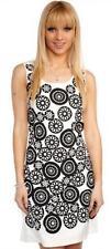 Black & White Retro Sequin Beaded Application Shift Tunic Tie Back Dress 10-12