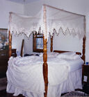 Antique Tiger Maple Four Poster Bed With Canopy
