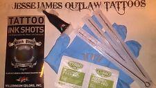 STICK AND POKE DIY TATTOO KIT MOMS BLACK INK 5RL 7RL 7RS NEEDLES