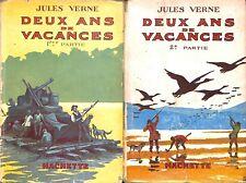 JULES VERNE / DEUX ANS DE VACANCES / HACHETTE / HENRI FAIVRE / LIVRE 1948
