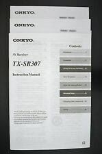 ONKYO TX-SR307 Original AV-Receiver Bedienungsanleitung/Instruction Manual