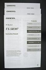 Onkyo tx-sr307 Original AV Receiver Operating Instructions/Instruction Manual