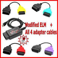 ALFA FIAT DIAGNOSTIC LEAD CABLE ADAPTOR for MULTIECUSCAN + ELM OBD2 FTDI chip