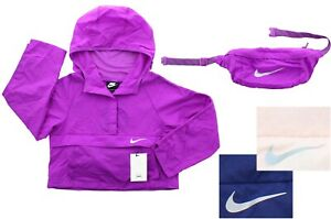 Nike Girls Pack-It Jacket Sportswear Hip Pack Lightweight Packable Pullover Coat