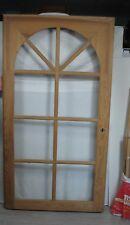 Hauseingangstür Flügel Vollholz mit Rundbogen, Fensterausschnitte