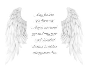 Angel Wings Poem Print Poster Picture A4
