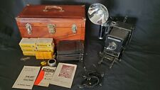 Vintage SPEED GRAPHIC ANNIVERSARY 4x5 Film CAMERA from Graflex With Flash Setup
