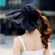 Womens Foldable Cotton Wide Brim Summer Outdoor Sun Hat UV Protection Hats